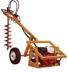Easy Auger Towable Post Hole Digger for rent sunflower equipment rental topeka lawrence blue springs kansas