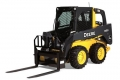 John Deere 318D Skid Steer w/forks for rent sunflower equipment rental topeka lawrence blue springs kansas