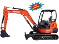 Kubota KX040-4 Mini Excavator for rent sunflower equipment rental topeka lawrence blue springs kansas