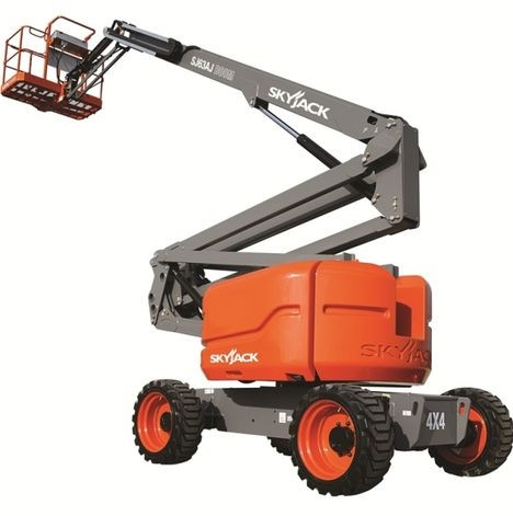 Skyjack SJ63AJ Articulating Boom Lift aerial lift for rent sunflower equipment rental topeka lawrence blue springs kansas