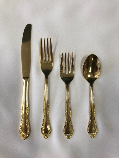 gold elizabeth flatware for rent lawrence sunflower rental topeka blue springs kansas missouri