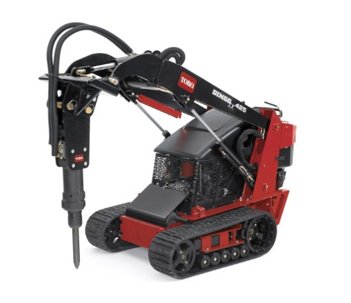 Toro Dingo with Breaker attachment for rent Sunflower Equipment Rental Topeka Lawrence blue springs Kansas