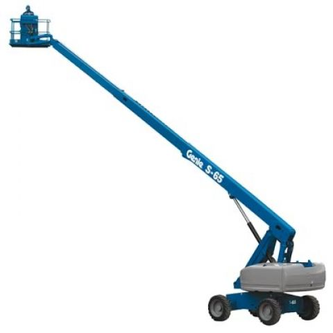 Genie S65 Boom Lift for rent Sunflower Equipment Rental Topeka Lawrence Blue Springs Kansas