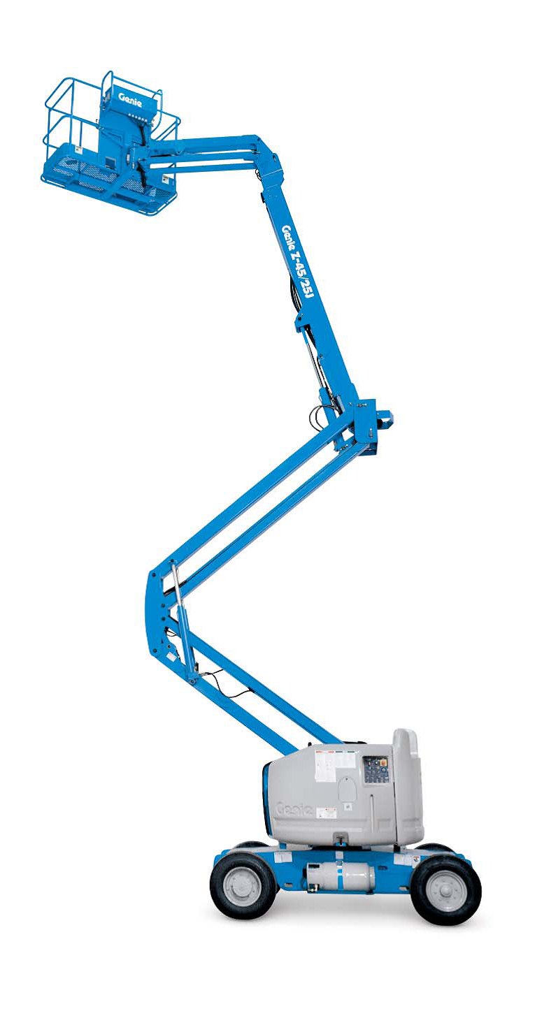 Genie articulating boom lift for rent sunflower equipment rental topeka lawrence blue springs kansas