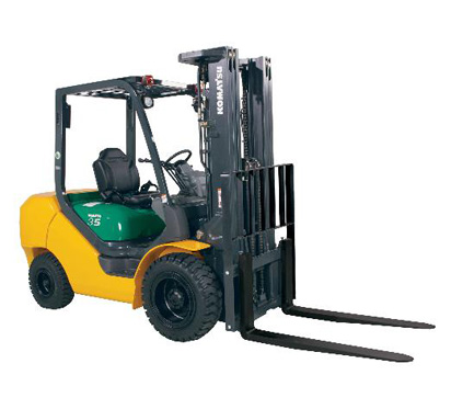 Komatsu FG25T Warehouse Forklift for rent Sunflower Equipment Rental Topeka Lawrence Blue Springs Kansas