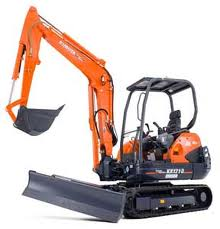 Kubota KX121 Mini excavator for rent sunflower equipment rental topeka lawrence blue springs kansas