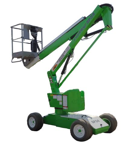 Niftylift SP34N articulating boom lift for rent sunflower equipment rental topeka lawrence blue springs kansas