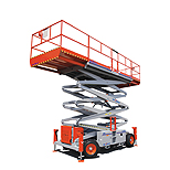 Skyjack 6832RT Scissor lift for rent Sunflower Equipment Rental Topeka Lawrence Blue Springs Kansas