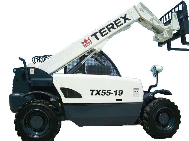 Terex TX5519 forklift for rent Sunflower Equipment rental Topeka Lawrence Blue Springs Kansas