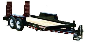 Towmaster T-10 12 or 16 Ft Trailer for rent Sunflower Equipment Rental Topeka Lawrence Blue Springs Kansas