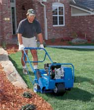 Aerator for rent at Sunflower Rental in Lawrence, Kansas