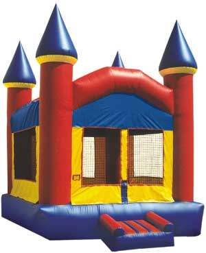 Bouncy funhouse castle for rent at Sunflower Rental in Lawrence, Kansas