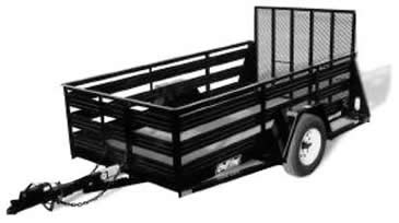 Utility Trailer for rent Sunflower Equipment Rental Topeka Lawrence Blue Springs Kansas