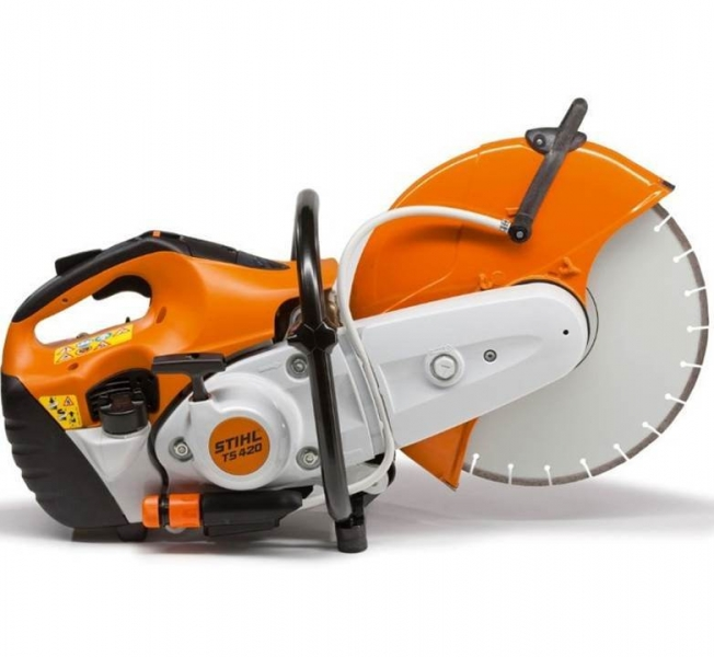 Stihl TS420 concrete cutoff chop saw 14 inch for rent sunflower equipment rental topeka lawrence blue springs kansas