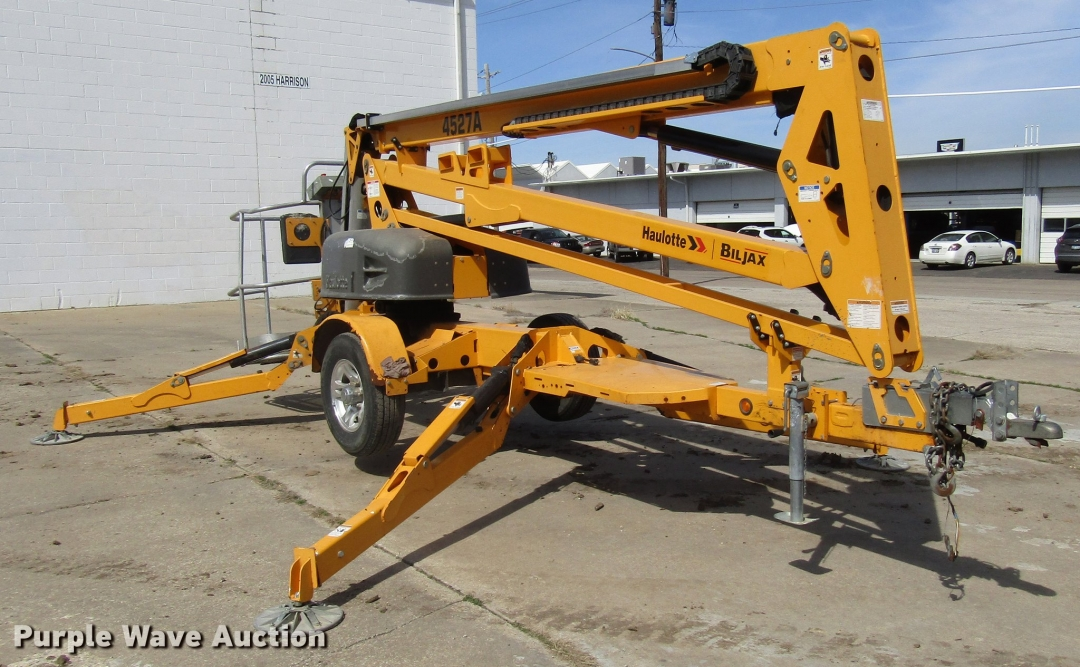 2013 Haulotte 4527A Boom Lift for sale or rent sunflower equipment rentals topeka lawrence kansas blue springs missouri
